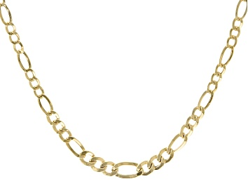 Picture of 10K Yellow Gold Figaro Chain Necklace 18""
