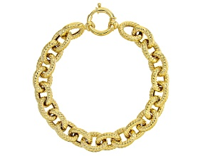 10K Yellow Gold 1.18MM Twisted Rolo Link 8 Inch Bracelet