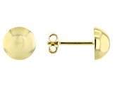 10K Yellow Gold High Polished 9MM Half-Stud Earrings
