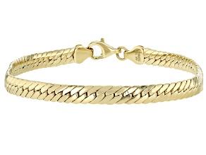 10K Yellow Gold 4.43MM High Polished Herringbone Link Bracelet