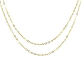 10k Yellow Gold Set of 2 1.5mm Link Necklaces 20 and 24 Inches