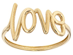 10k Yellow Gold Love Ring