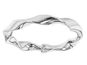 10k White Gold Ribbon Ring