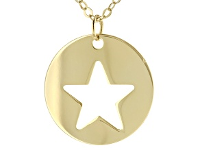 "10K Yellow Gold 18"" Star Necklace"