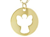 "10K Yellow Gold 18"" Angel Necklace"
