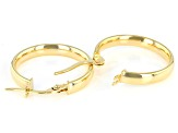 10K Yellow Gold 18.20MM Hoops