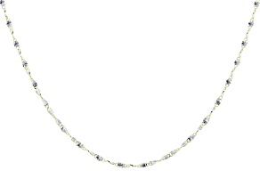 10K Yellow Gold 2MM Twisted Bars Two-Tone 18 Inch Necklace
