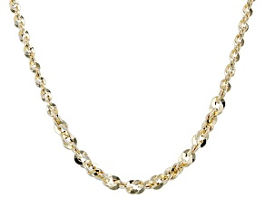 10K Yellow Gold Graduated 20 Inch Rope Necklace