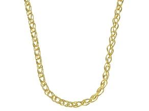 10K Yellow Gold 3.35MM Diamond-Cut Spiga 20 Inch Necklace