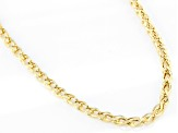 10K Yellow Gold 3.35MM Diamond-Cut Spiga 28 Inch Necklace