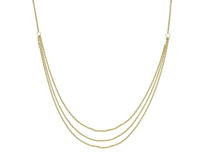 10K Yellow Gold Multi-Strand Cable Chain 20 Inch Necklace