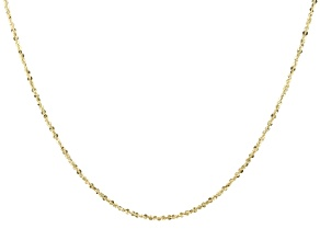 10K Yellow Gold 1.56MM Criss-Cross Chain 18 Inch Necklace