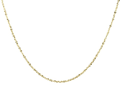 10K Yellow Gold 1.56MM Criss-Cross Chain 20 Inch Necklace