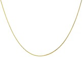 10K Yellow Gold 1.06MM Box Chain 24 Inch Necklace