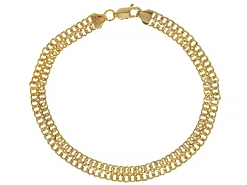 Picture of 10K Yellow Gold 5.70MM Infinity Link Bracelet