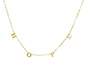"10K Yellow Gold ""Hope"" Cable Chain 18 Inch Necklace"