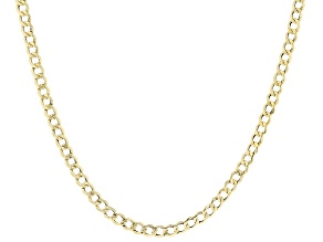 10K Yellow Gold 4.5MM Curb 22 Inch Chain