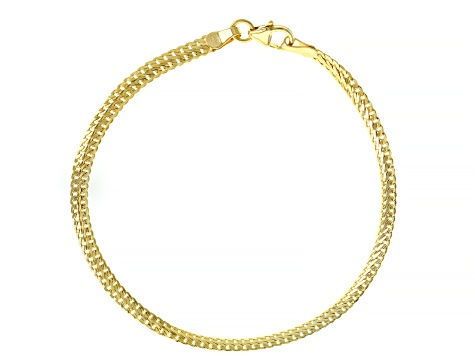 10K Yellow Gold 3.30MM Herringbone Link Bracelet