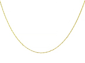 10K Yellow Gold 0.70MM Twisted Rolo Chain 16 Inch Necklace