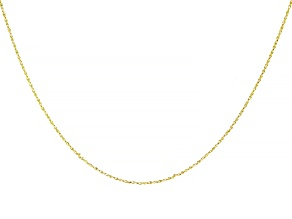 10K Yellow Gold 0.70MM Twisted Rolo Chain 18 Inch Necklace