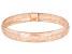 10K Rose Gold 8MM Domed Stretch Mesh Bangle Bracelet