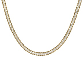 "Cubic Zirconia 14K Yellow Gold Three-Strand 18"" Necklace"