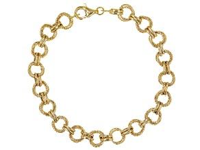 10K Yellow Gold Circle Link Bracelet