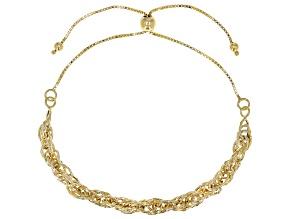 10K Yellow Gold Fancy Rope Chain Bolo Bracelet