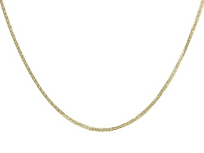 "10K Yellow Gold 0.77MM Diamond Cut 18"" Wheat Chain Necklace"