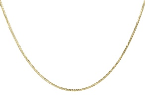 "10K Yellow Gold 0.77MM Diamond Cut 20"" Wheat Chain Necklace"