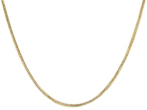 "10K Yellow Gold 0.77MM Diamond Cut 24"" Wheat Chain Necklace"