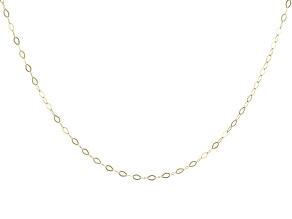"""14K Yellow Gold 1.30MM Faceted Square Rolo Chain 18"""" Necklace"""