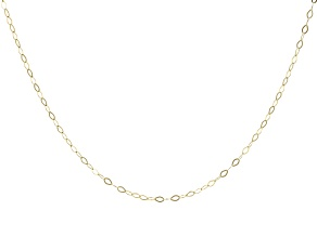 14K Yellow Gold 1.30MM Faceted Square Rolo Chain 20