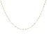 "14K Yellow Gold 1.30MM Faceted Square Rolo Chain 20"" Necklace"