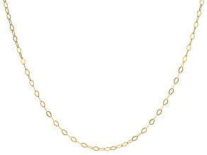 14K Yellow Gold 1.30MM Faceted Square Rolo Chain 24