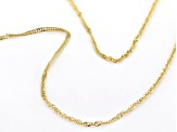 "14K Yellow Gold 1.10MM 18"" Singapore Chain Necklace"