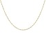 "14K Yellow Gold 1.10MM 24"" Singapore Chain Necklace"