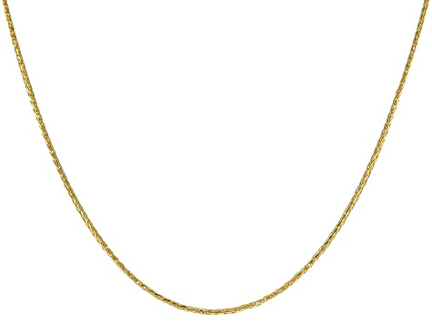 14K Yellow Gold 0.77MM Diamond Cut Wheat Chain