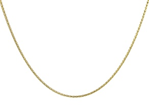 "14K Yellow Gold Diamond Cut 20"" Wheat Chain Necklace"
