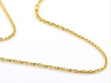"14K Yellow Gold 0.55MM Diamond Cut 18"" Cable Chain Necklace"