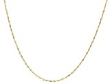 "10K Yellow Gold Faceted Square 20"" Rolo Link Chain Necklace"