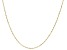 "10K Yellow Gold Faceted Square 24"" Rolo Link Chain Necklace"