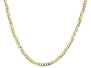 10K Yellow Gold 18 Inch Curb Necklace