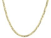 10K Yellow Gold 2.4MM Curb Chain 18 Inch Necklace
