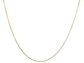14K Yellow Gold 0.4MM Diamond-Cut Box Chain