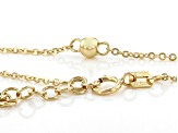 14K Yellow Gold Polished Bead 9 Inch Anklet With 1 Inch Extender