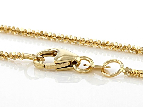14K Yellow Gold Polished 1.25MM Criss-Cross 18