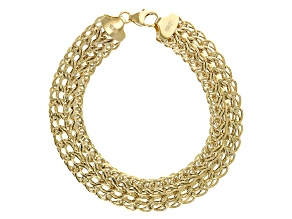 14K Yellow Gold Polished 12.3MM Sedusa Bracelet