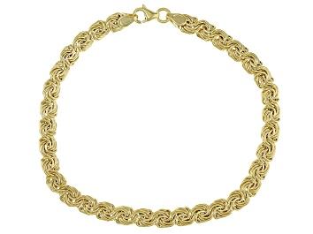 Picture of 10K Yellow Gold 5MM Domed Rosetta Link Bracelet