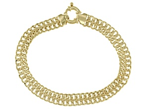 10K Yellow Gold Infinity Link 8.25
